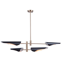 Artcraft AC11394 Modern Renaissance 4 Light 41 inch Harvest Brass and Black Chandelier Ceiling Light