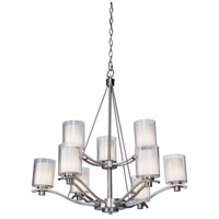 ARTCRAFT Andover 9 Light Chandelier in Polished Nickel AC1139PN