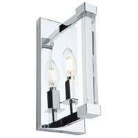 Artcraft AC11400 Carlyle 1 Light 5 inch Chrome Wall Sconce Wall Light
