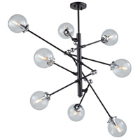 Artcraft AC11438CL Vero Modo 8 Light 44 inch Matte Black and Chrome Chandelier Ceiling Light
