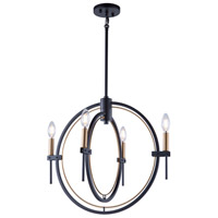 Anglesey 4 Light 22 inch Matte Black and Harvest Brass Chandelier Ceiling Light