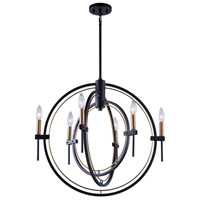 Artcraft Harvest Brass and Black Chandeliers