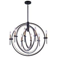 Artcraft AC11458 Anglesey 8 Light 28 inch Matte Black and Harvest Brass Chandelier Ceiling Light
