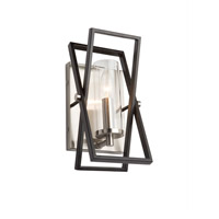 Artcraft AC11475 Vissini 1 Light 4 inch Matte Black and Polished Nickel Wall Sconce Wall Light