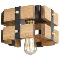 Barnyard 1 Light 9 inch Honey Flush Mount Ceiling Light