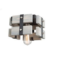 Barnyard 1 Light 9 inch Beach Wood Flush Mount Ceiling Light