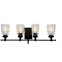 Artcraft Black and Brass Wall Sconces