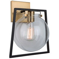 Artcraft AC11602VB Bridgetown 1 Light 10 inch Black and Harvest Brass Wall Light