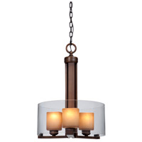 Sierra 3 Light 16 inch Oil Rubbed Bronze Pendant Ceiling Light