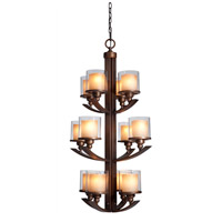 Artcraft Lighting Sierra 12 Light Chandelier in Oil Rubbed Bronze AC1250