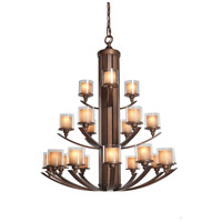 Artcraft Lighting Sierra 21 Light Chandelier in Rust AC1251