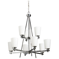 ARTCRAFT Raleigh 9 Light Chandelier in Chrome AC1279CH