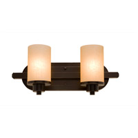 Artcraft AC1302OB Parkdale 2 Light 12 inch Oil Rubbed Bronze Bathroom Vanity Wall Light in White