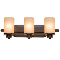 Artcraft AC1303OB Parkdale 3 Light 21 inch Oil Rubbed Bronze Bathroom Vanity Wall Light in White