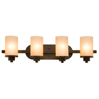 Artcraft AC1304OB Parkdale 4 Light 30 inch Oil Rubbed Bronze Bathroom Vanity Wall Light in White