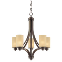 Parkdale 5 Light 24 inch Oil Rubbed Bronze Chandelier Ceiling Light in Amber