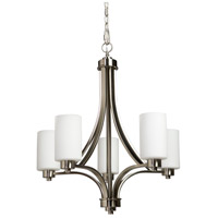Parkdale 5 Light 24 inch Polished Nickel Chandelier Ceiling Light in Opal White