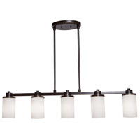 Artcraft AC1306WH Parkdale 5 Light 38 inch Oil Rubbed Bronze Island Light Ceiling Light