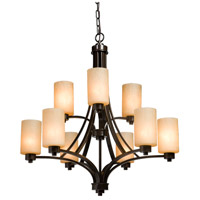Parkdale 9 Light 28 inch Oil Rubbed Bronze Chandelier Ceiling Light in White