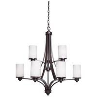 Artcraft AC1309WH Parkdale 9 Light 28 inch Oil Rubbed Bronze Chandelier Ceiling Light photo thumbnail