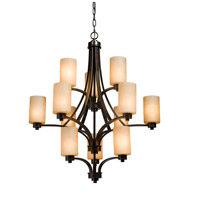 Parkdale 12 Light 30 inch Oil Rubbed Bronze Chandelier Ceiling Light in White