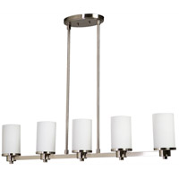 Artcraft AC1315PN Parkdale 5 Light 38 inch Polished Nickel Island Light Ceiling Light