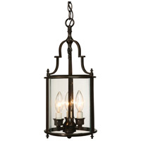 Manor 3 Light 8 inch Bronze Chandelier Ceiling Light