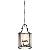 Manor 8 Light 17 inch Bronze Chandelier Ceiling Light