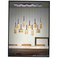 Artcraft Lighting Berlinetta 10 Light Island Light with Amber Glass AC1340AM