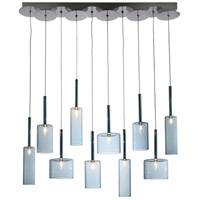Artcraft Lighting Berlinetta 10 Light Island Light with Blue Glass AC1340BL