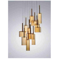 Artcraft Lighting Berlinetta 12 Light Chandelier with Amber Glass AC1342AM