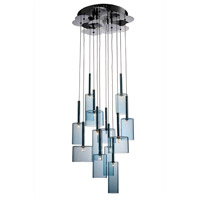 Artcraft Lighting Berlinetta 12 Light Chandelier with Blue Glass AC1342BL