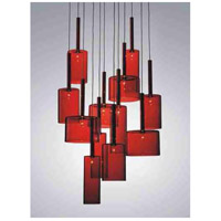 Artcraft Lighting Berlinetta 12 Light Chandelier with Red Glass AC1342RD