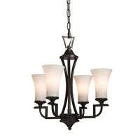Artcraft Lighting Wellington 4 Light Chandelette in Oil Rubbed Bronze AC1374