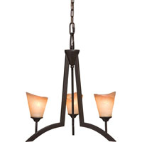 Artcraft Lighting Maestro 3 Light Chandelette in Oil Rubbed Bronze AC1393 photo thumbnail