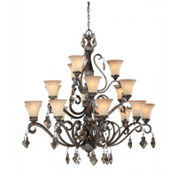 Artcraft Lighting Vienna 18 Light Chandelier in Bronze w/ Silver Highlights AC1461