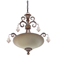 Artcraft Lighting Vienna 3 Light Flush Mount in Bronze w/ Silver Highlights AC1463