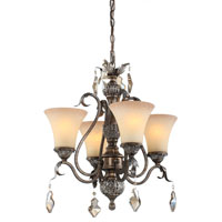 Artcraft Lighting Vienna 4 Light Chandelette in Bronze w/ Silver Highlights AC1464
