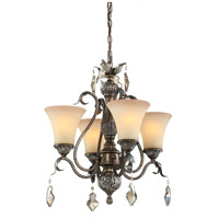 Vienna 4 Light 20 inch Bronze Mini Chandelier Ceiling Light