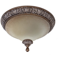 Artcraft Lighting Vienna 2 Light Flush Mount in Bronze w/ Silver Highlights AC1465