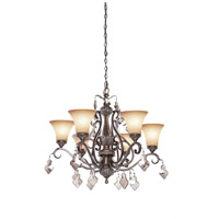 Artcraft Lighting Vienna 6 Light Chandelier in Bronze w/ Silver Highlights AC1466