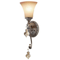 Artcraft Lighting Vienna 1 Light Wall Bracket in Bronze w/ Silver Highlights AC1467