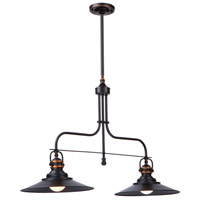 Artcraft AC1472BZ Heath 2 Light 35 inch Bronze Island Light Ceiling Light