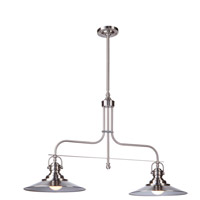 Artcraft AC1472SN Heath 2 Light 35 inch Satin Nickel Island Light Ceiling Light