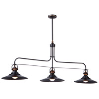 Artcraft AC1473BZ Heath 3 Light 53 inch Bronze Island Light Ceiling Light