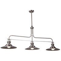 Heath 3 Light 53 inch Satin Nickel Island Light Ceiling Light