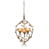 Artcraft Lighting Louvre 3 Light Chandelier in Bronzed Gold AC1513