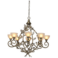 Artcraft Lighting Louvre 8 Light Chandelier in Bronzed Gold AC1518