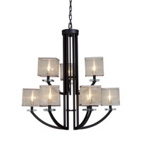 Artcraft Lighting Stowe 9 Light Chandelier in Oil Rubbed Bronze AC1589 photo thumbnail