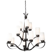 Russell Hill 12 Light 34 inch Oil Rubbed Bronze Chandelier Ceiling Light